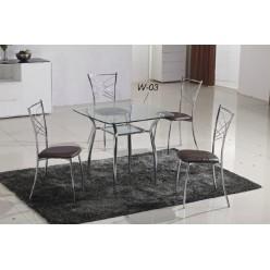 Стеклянный стол W03